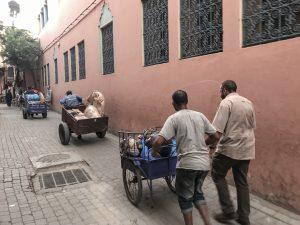 Vognmænd i Marrakech